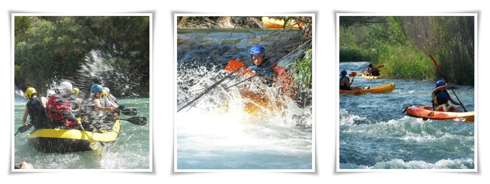 Descenso en canoas y rafting