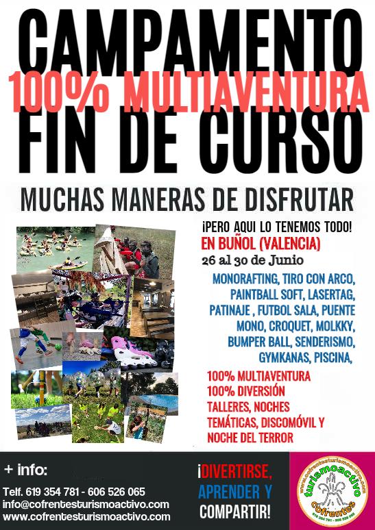 Campamento de Verano en Buñol. Total Multiaventura